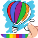 finger_painting_coloring_pages_icon